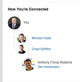 how I'm connected to Tony Robbins