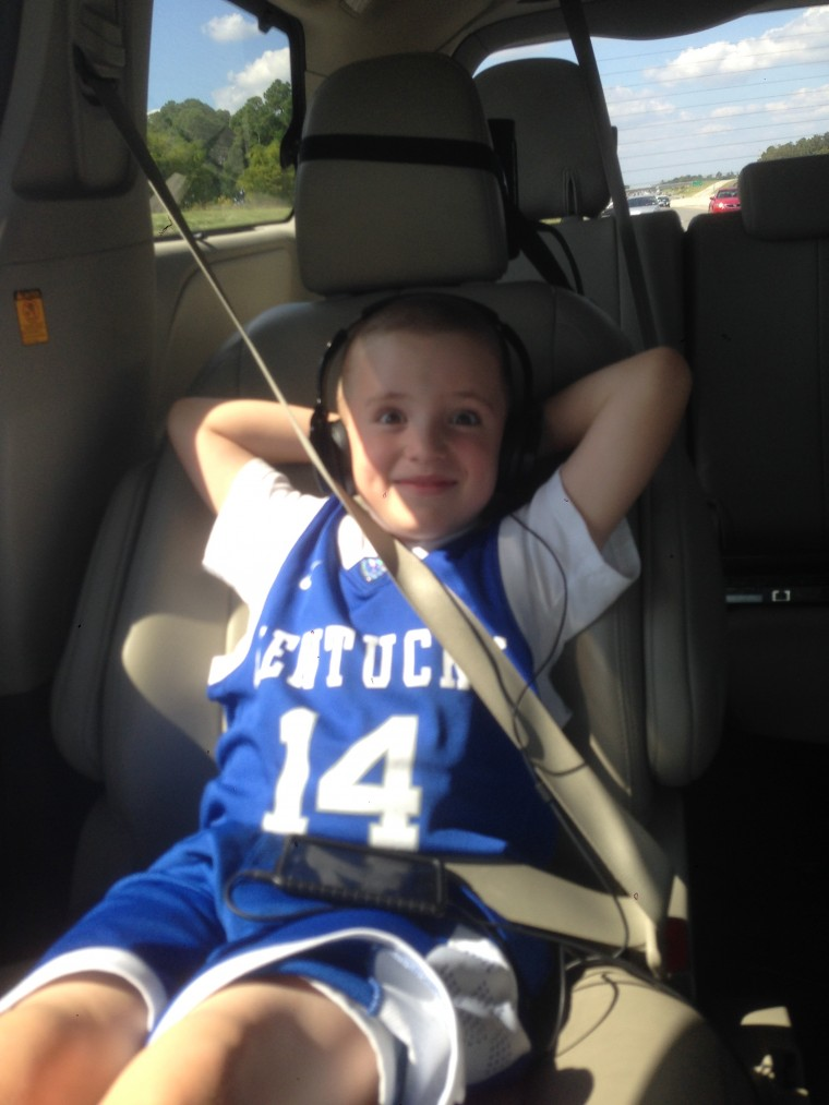 Kid knows how to road trip!