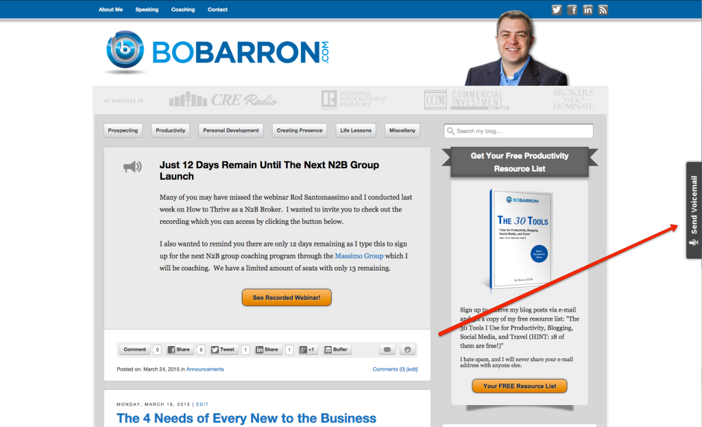 BoBarron.com Speakpipe