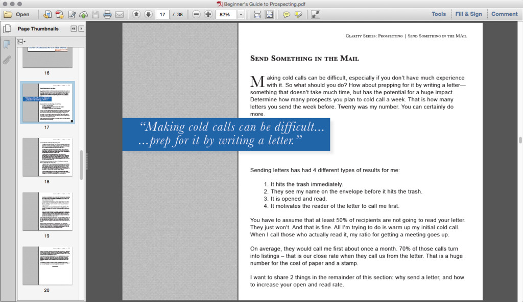 prospecting ebook screenshot