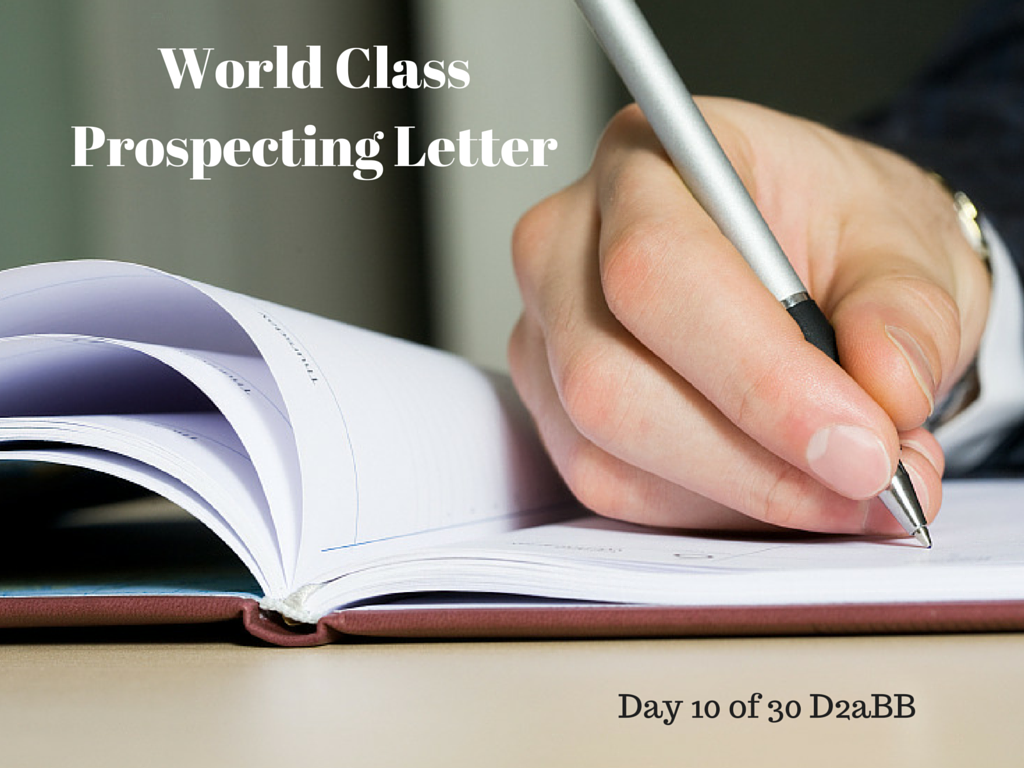 prospecting letter bo barron 4 tips to systematize the use of a great prospecting letter